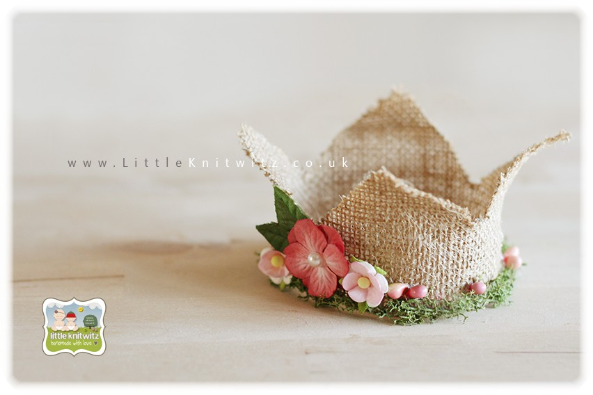 Burlap Crown | French Rose