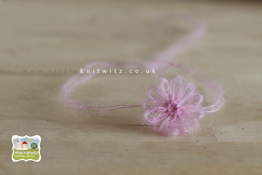 Loom Flower Headband   Pink