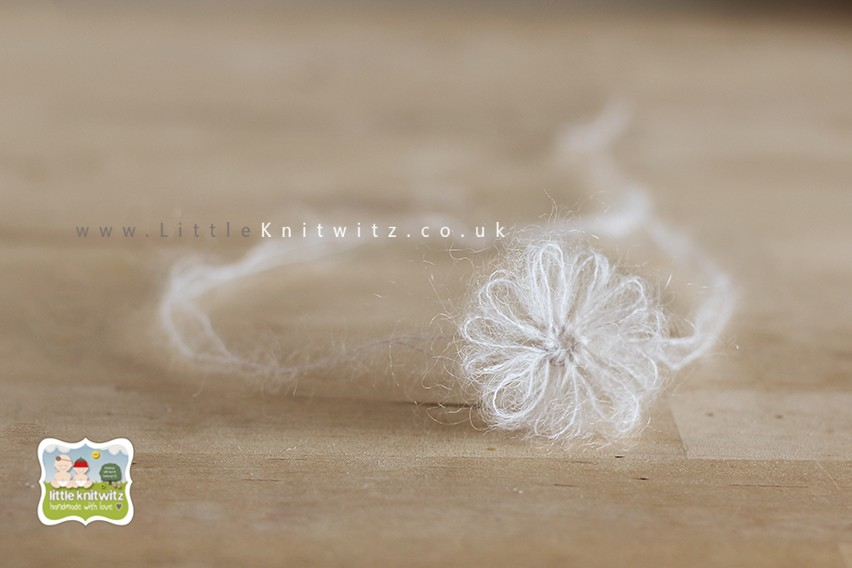 Loom Flower Headband   vory
