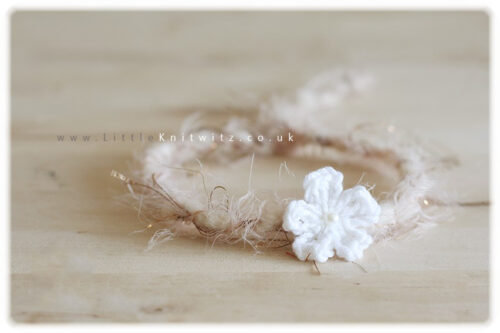 Crocheted Flower Headband | Ivory