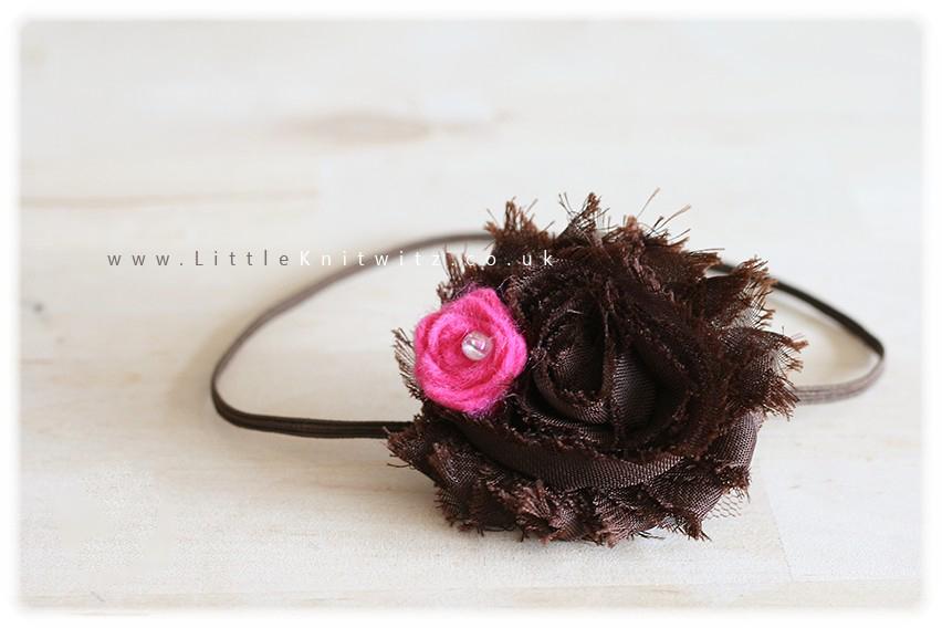 Shabby Rose Headband