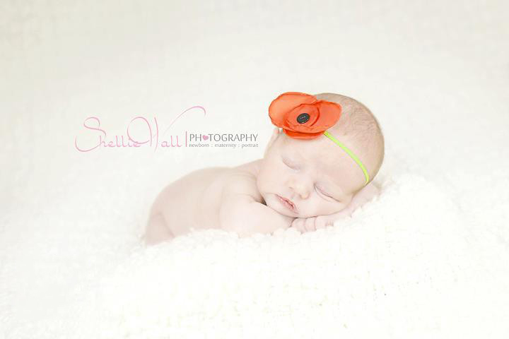 Poppy | Baby Headband | Red
