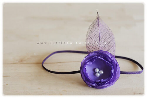 Catherine | Baby Headband | Purple