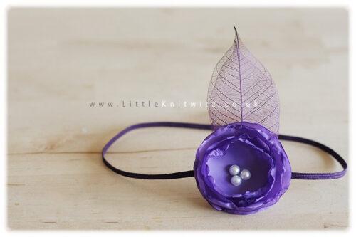Catherine | Baby Headband | Purple