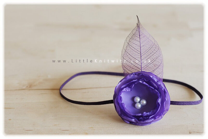 Catherine   Baby Headband   Purple
