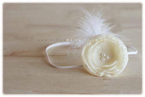 Catherine | Baby Headband | Ivory