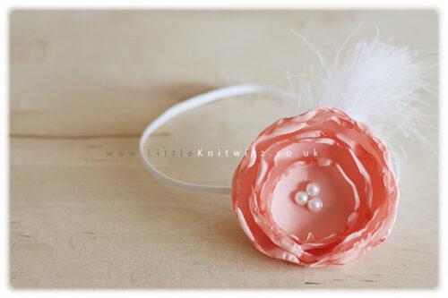 Catherine | Baby Headband | Peach