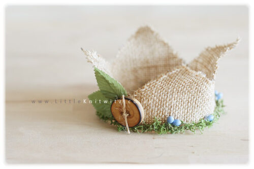Willow King Newborn Burlap Crown