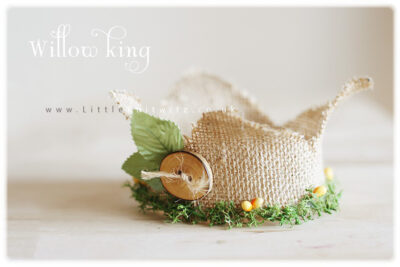 Willow King Newborn Burlap Crown