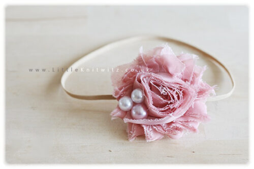 Shabby Rose Headbands | Choose Colour