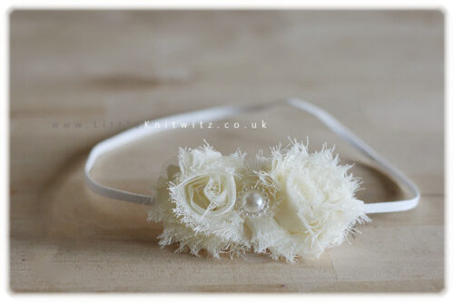 Shabby Rose Headband