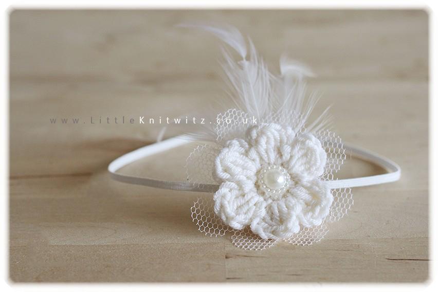 Neve | Baby Headband | Ivory