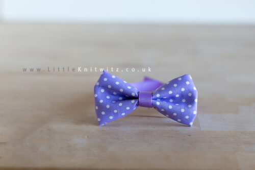Baby Bow Tie | purple spot