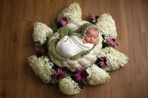 Newborn Vintage Bonnet Layer Set - Sage Green