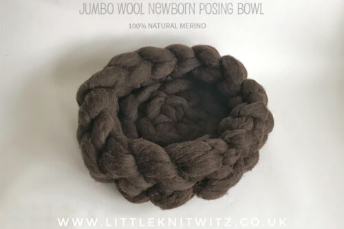 Newborn Merino wool posing cloud bowl nest | Little Knitwitz | newborn photo props UK