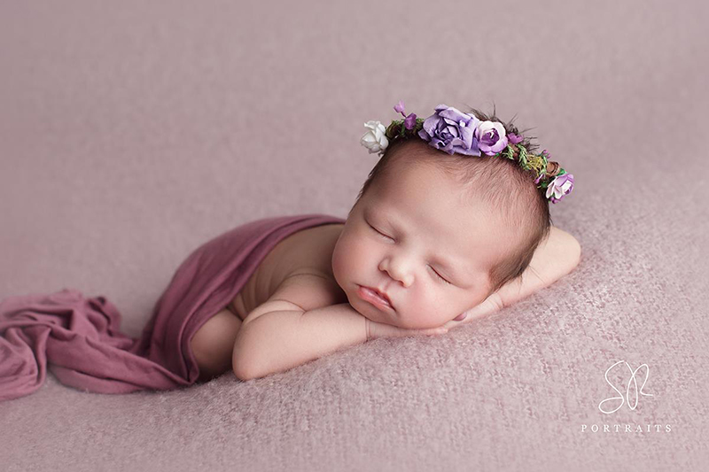 Newborn Floral Halo Purple - SRPortraits