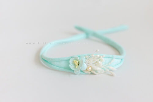 Tilly | Tie Back Headband | Ice blue