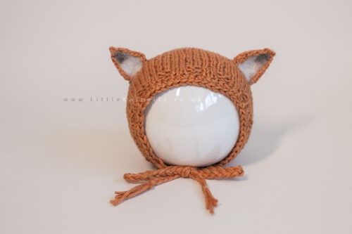 Newborn Fox Bonnet