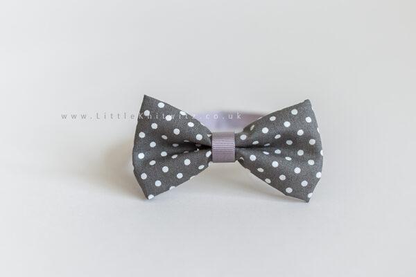 Baby Bow Tie   Grey spot
