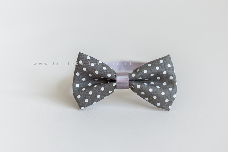 Baby Bow Tie | Grey spot