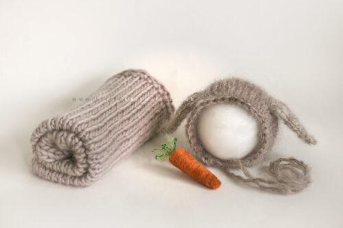 Bunny Bonnet & Blanket Set