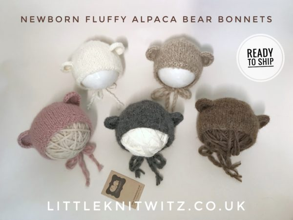Newborn Bear Bonnets