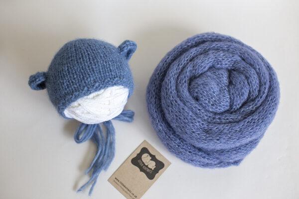 Bear Bonnet and Knit Wrap