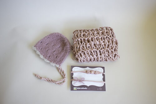 Newborn Alpaca bonnet set