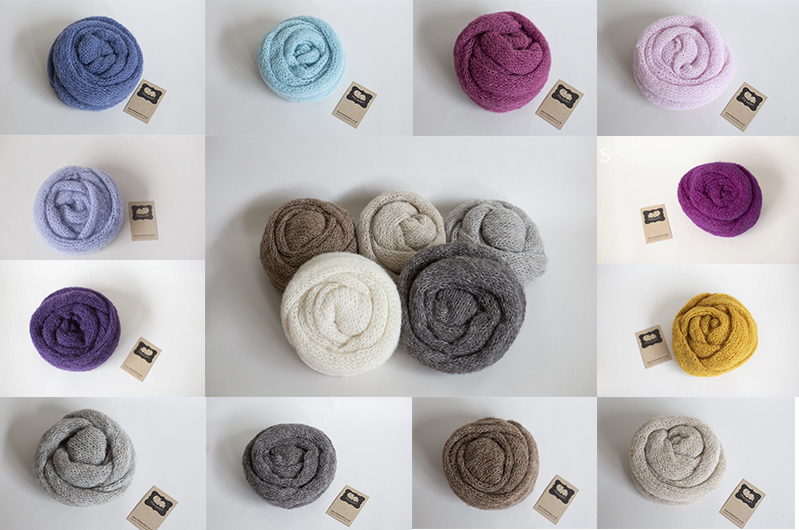 Delicate Knitted Baby Wraps