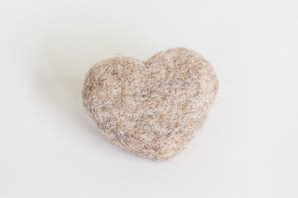 Barley Felted Heart