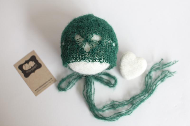 Newborn Lace Heart Bonnet