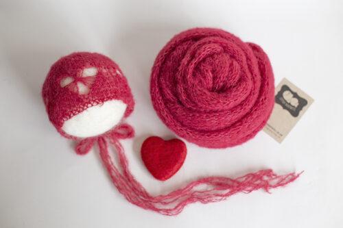 Christmas Heart Bonnet & Wrap