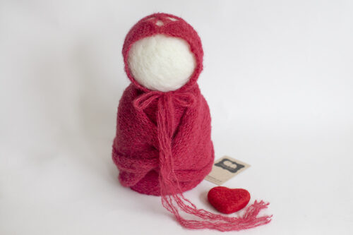 Christmas Heart Bonnet & Wrap