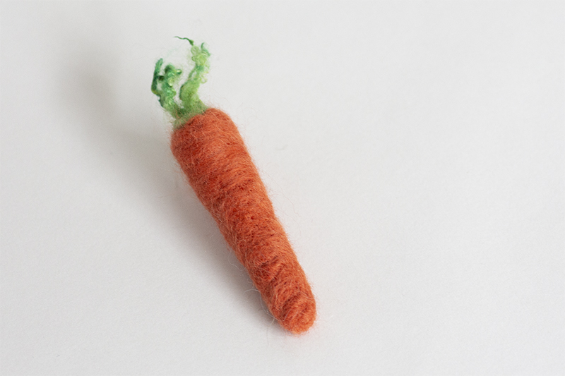 Felted Carrot