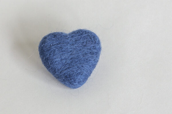 Dutch Blue Felted Heart