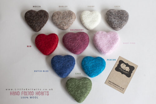 Felted Heart Lovies