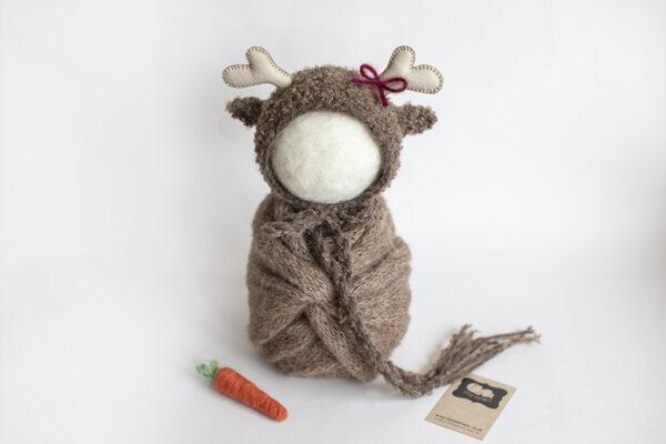 Newborn Christmas reindeer set
