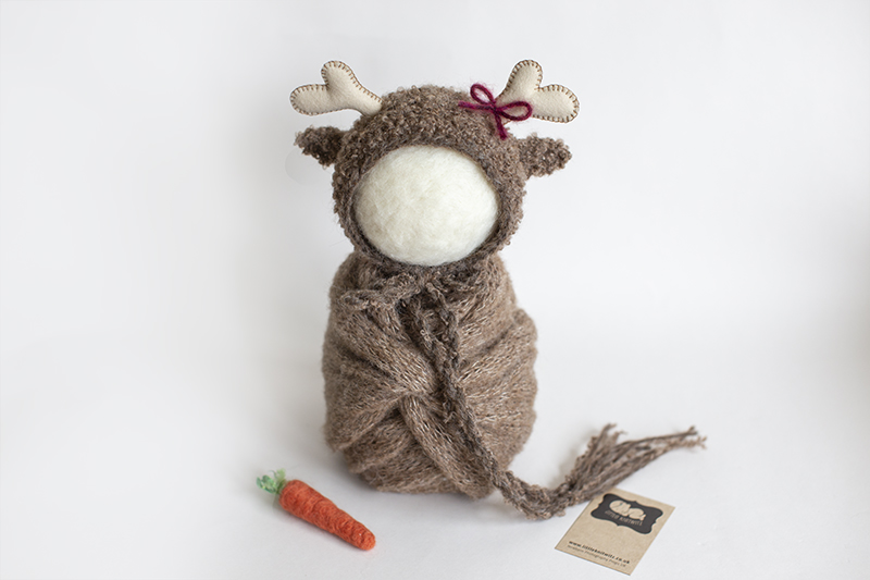 Newborn Christmas reindeer set