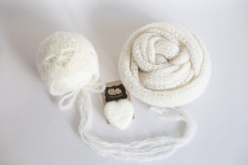Newborn heart Bonnet and wrap