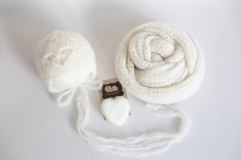 Newborn heart Bonnet and wrap