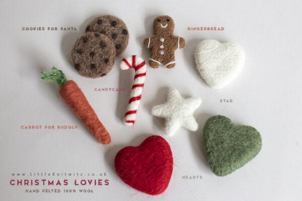 Christmas Felted Lovies