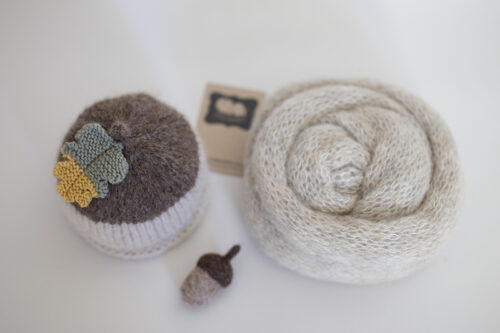 Newborn Acorn Hat & Wrap