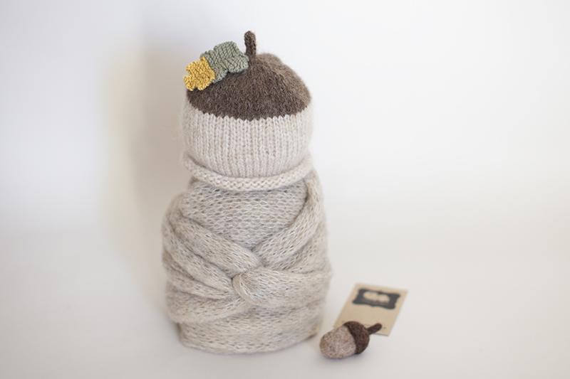 Newborn Acorn Hat & Wrap