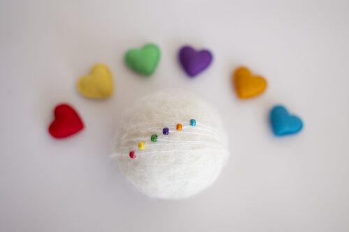 Rainbow headband heart Set
