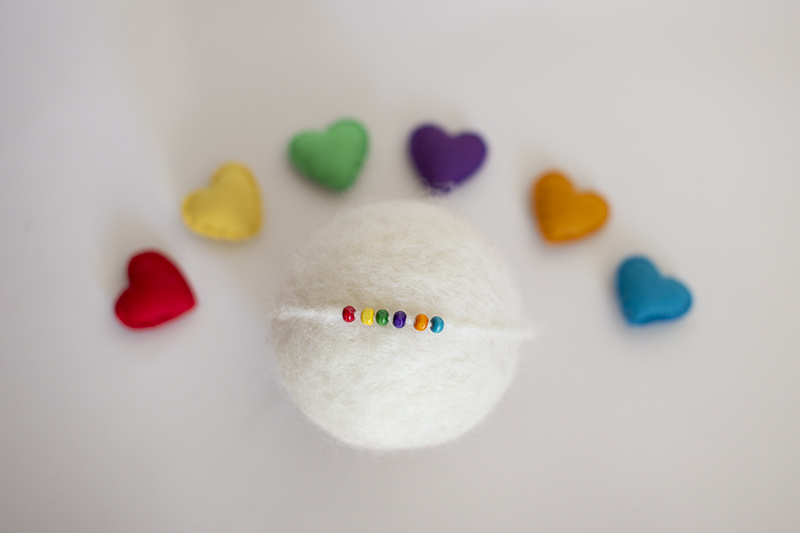 Rainbow headband heart Set