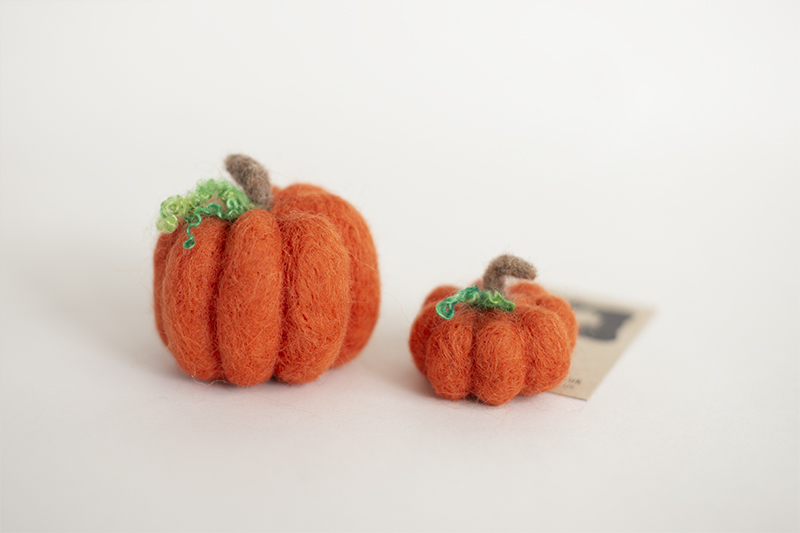 Hand Felted Pumpkin Felties