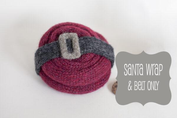 Newborn Santa Wrap & Belt