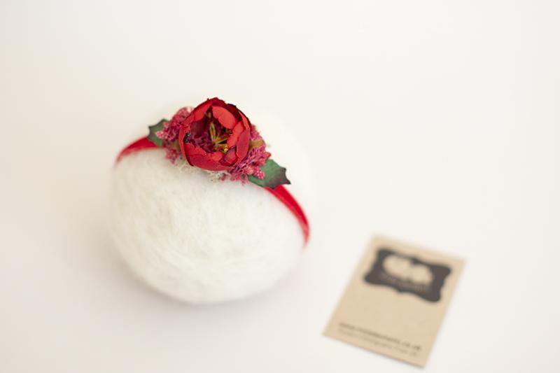 Christmas Floral headband