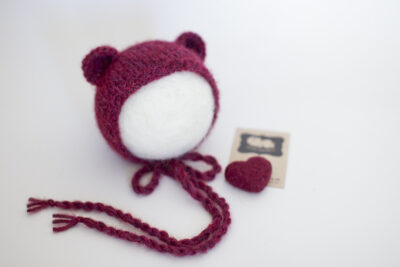 Christmas Bear Bonnet