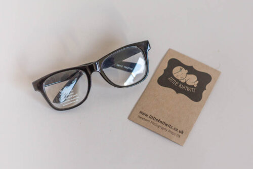 Black framed Newborn Glasses